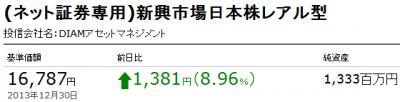 (ネット証券専用)新興市場日本株レアル型 _20131230