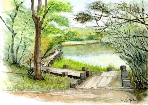 レオくんの水彩スケッチ-日本畫家::它是增長記憶和旅途的教室繪製的水彩繪畫(第輯):: - ☆平平.淡淡.也是真☆  - ☆☆。 平平。淡淡。也是真。☆☆ 。