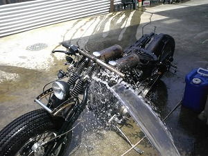 水洗い作業