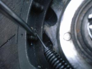 ドラム用スプリング掛かり位置