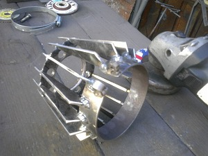冷却フィン削り加工