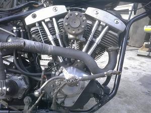 ショベルヘッドビッグツインエンジン