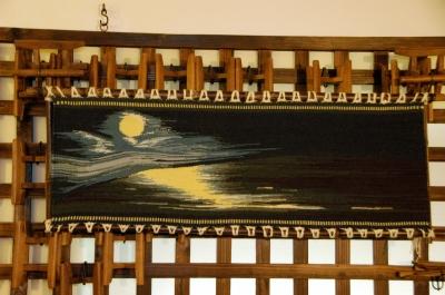 タペストリー月夜の海