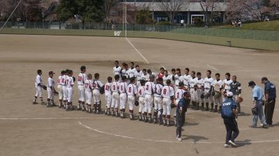 厳美中学校野球部今季初の公式戦