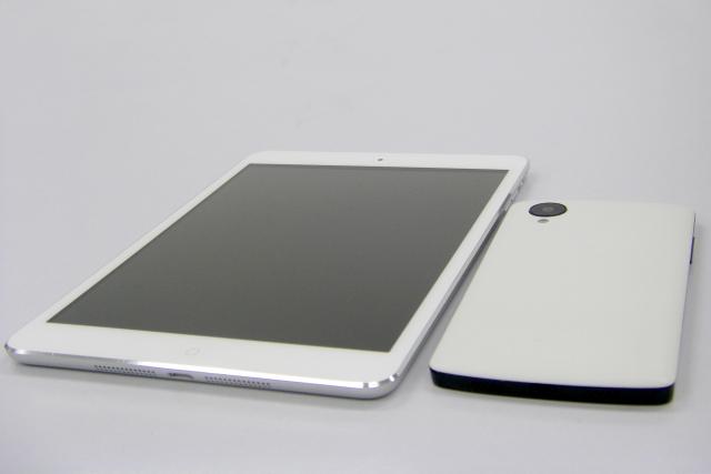 iPadとiPhoneの写真