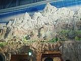 パキスタン館の中のヒマラヤ山脈パネル