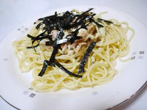 ツナマヨパスタ〜醤油風味