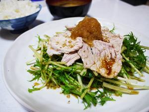 水菜と豚肉の おろしポン酢