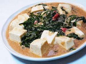 豆腐のめんたい煮