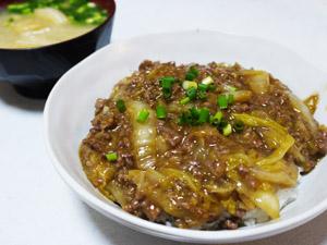 白菜マーボー丼