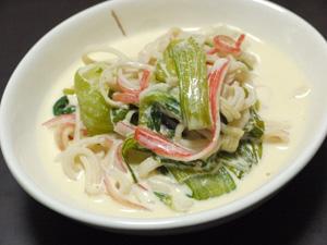 青梗菜のマヨクリーム煮
