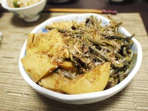 筍とワラビの土佐煮