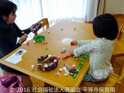 2016/12/22 親子製作(園開放)