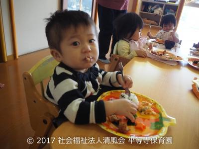 2017/11/2 ハロウィンの製作とその日の給食風景