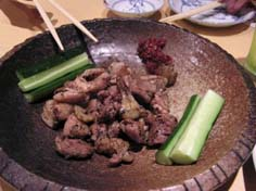 薩摩地鶏の塩焼き