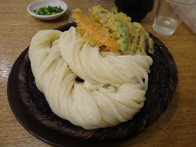 野菜天ざるうどん(倍盛)
