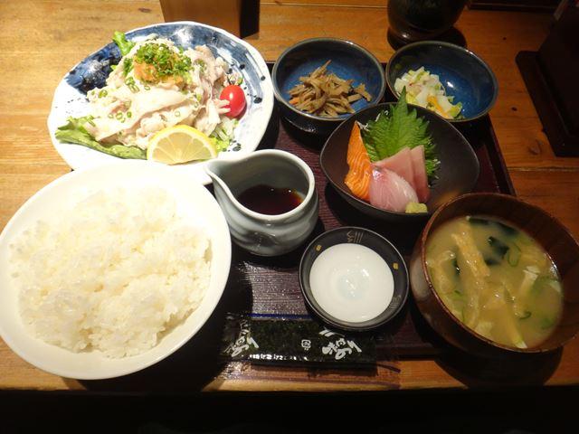 豚ポン定食(900円)