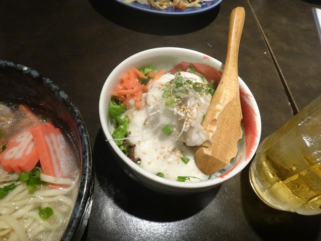 ミニソーキ丼+トロロ(350円)