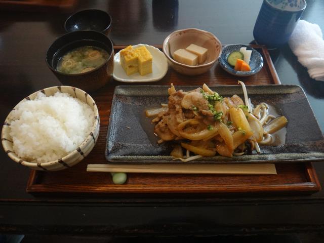 豚の生姜焼き(1300円)