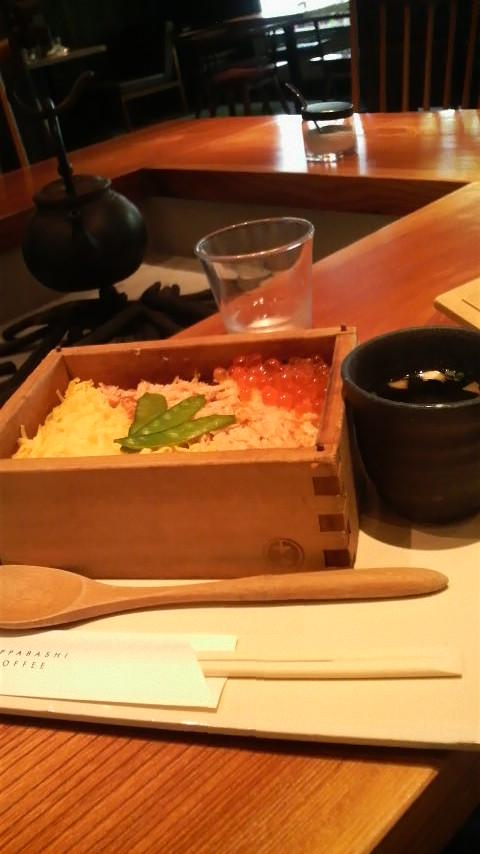 合羽橋コーヒー 鮭といくらのせいろご飯
