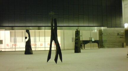 アリオスカスケードに鉄の彫刻