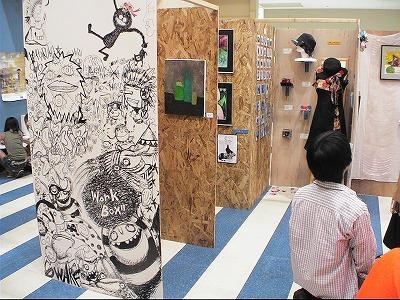 リスポ会場 Work Box!! Live Paint「Rakugaki」