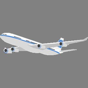 乗り物素材飛行機001