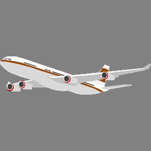 乗り物素材飛行機002