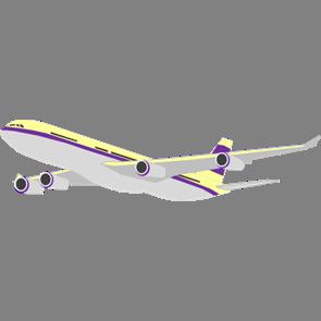 乗り物素材飛行機003