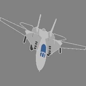 乗り物素材飛行機007