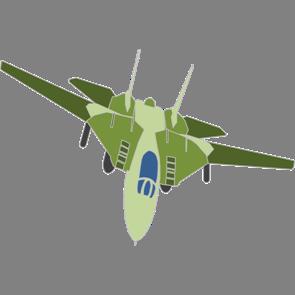 乗り物素材飛行機008