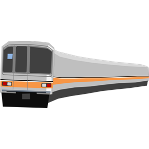 乗り物素材電車013
