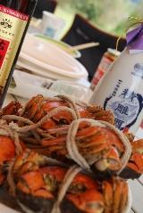 上海蟹と紹興酒