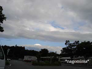 ちょっと見えた富士山