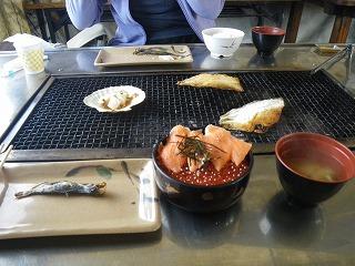 鮭番屋でご飯最終日