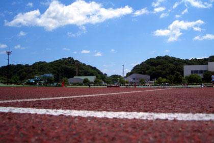 陸上競技場。