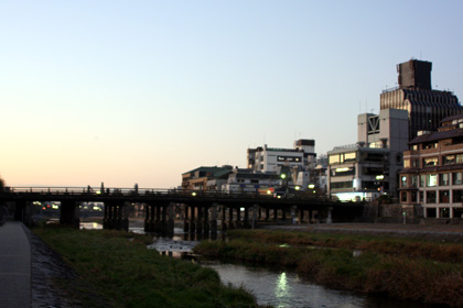 京都(鴨川)。