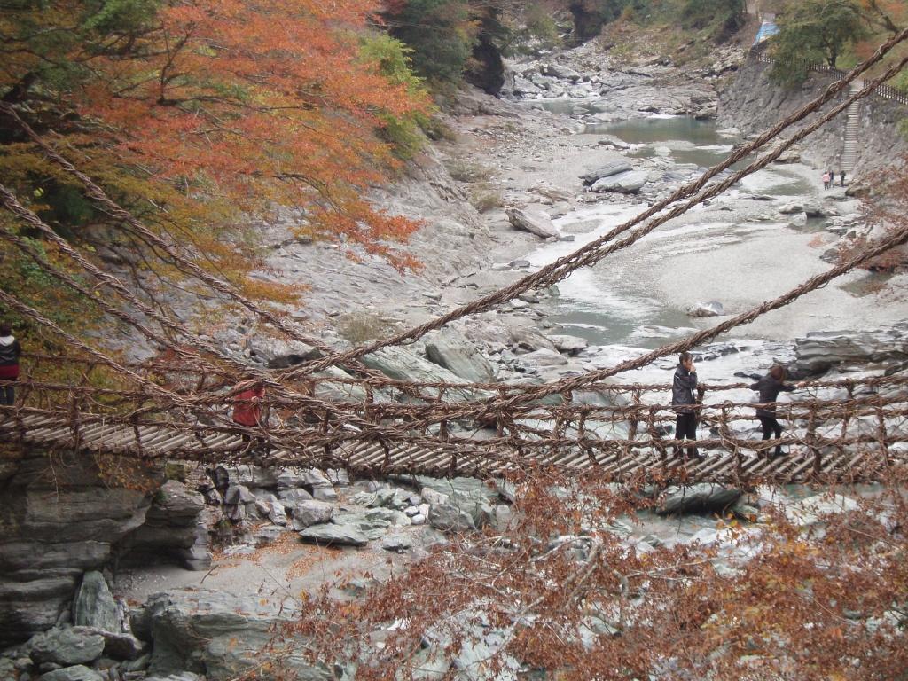 帰り道吊橋