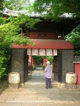 弁財天 長建寺の門
