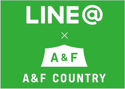 LINE@ LINE A&F COUNTRY エイアンドエフ