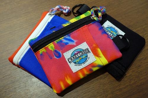 A&F エイアンドエフ CRAZY CREEK クレイジークリーク pass wallet パス ウォレット タイダイ ブルー レッド ブラック カードケース コインケース