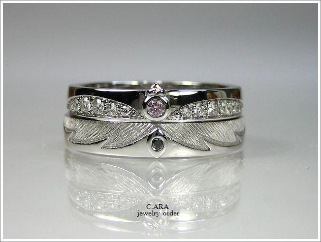 鳥 羽 ピンクダイヤ 刈谷市 結婚指輪 オーダーメイド 名古屋市 豊田市
