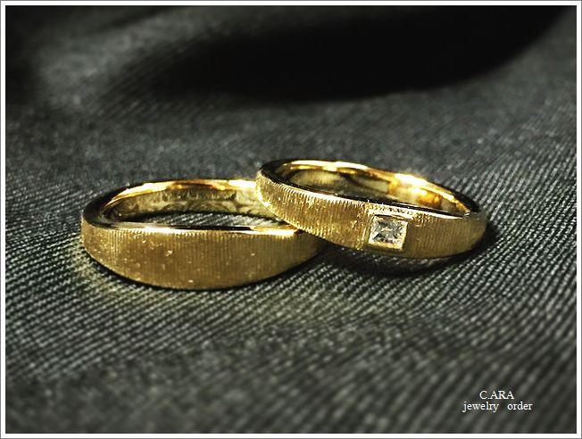 結婚指輪 オーダーメイド ゴールド 洋彫り 岡崎市 春日井市 名古屋市 豊田市