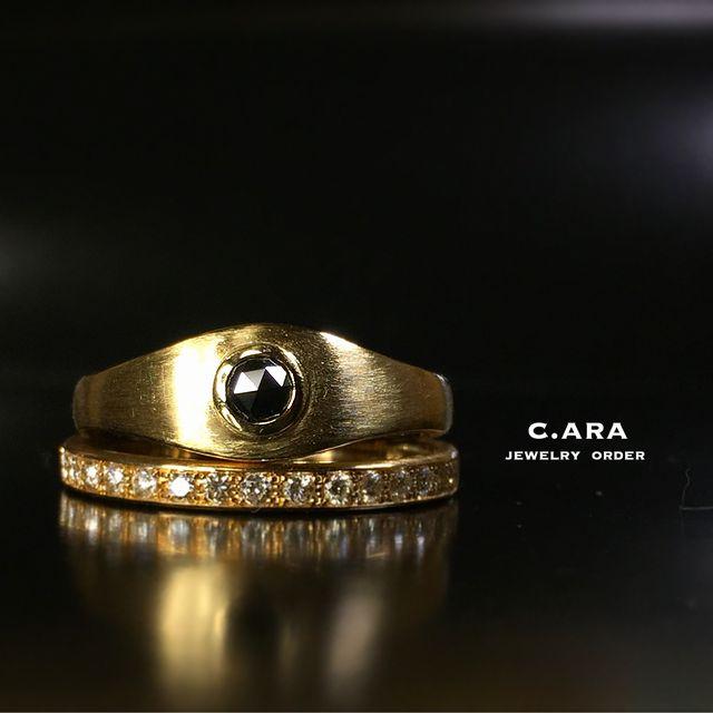 愛知県 結婚指輪 オーダーメイド 名古屋市 岡崎市 天白区 婚約指輪 オリジナル 手作り ブラックダイヤ