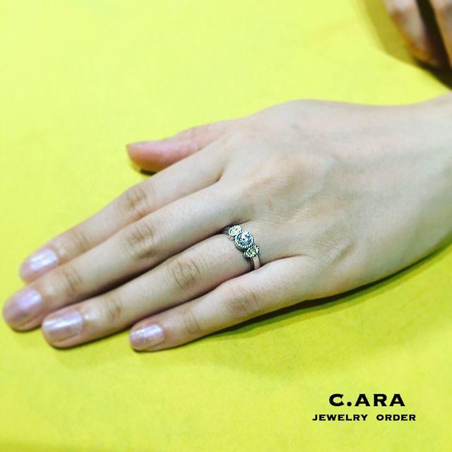 愛知県 結婚指輪 オーダーメイド 名古屋市 岡崎市 天白区 婚約指輪 オリジナル 手作り イエローダイヤ