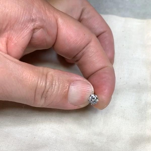 結婚指輪 手作り オーダーメイド 名古屋 天白区 豊田市 岡崎市 リフォーム リメイク ダイヤモンドピアス