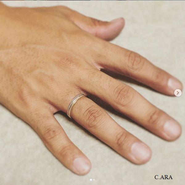 リフォーム 結婚指輪 オーダーメイド ミル打ちリング 名古屋市 豊田市 婚約指輪 エタニティーリング 鍛造 手作り 岡崎市