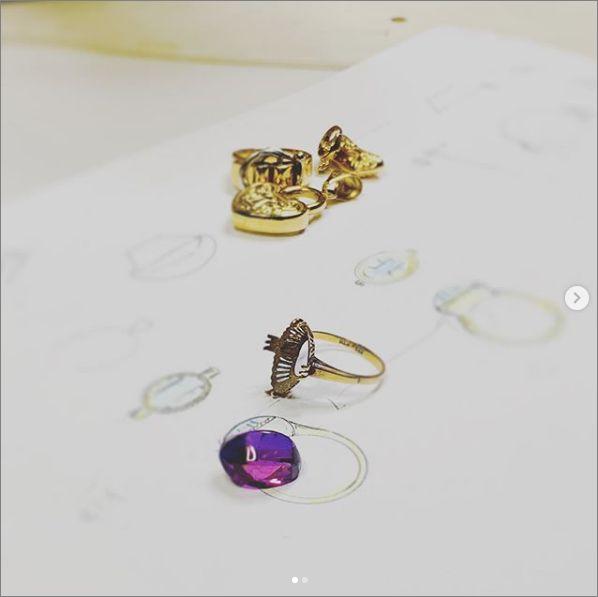 リフォーム アメジスト ミル打ち お値打ち 岡崎市 結婚指輪 オーダーメイド 名古屋市 豊田市