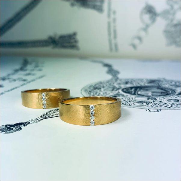 結婚指輪 ペアリング ゴールド 平打ちリング オーダーメイド 名古屋市 豊田市