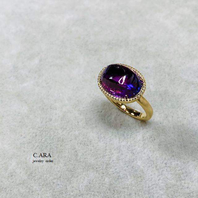 リフォーム アメジスト 指輪 結婚指輪 オーダーメイド 名古屋市 安城市